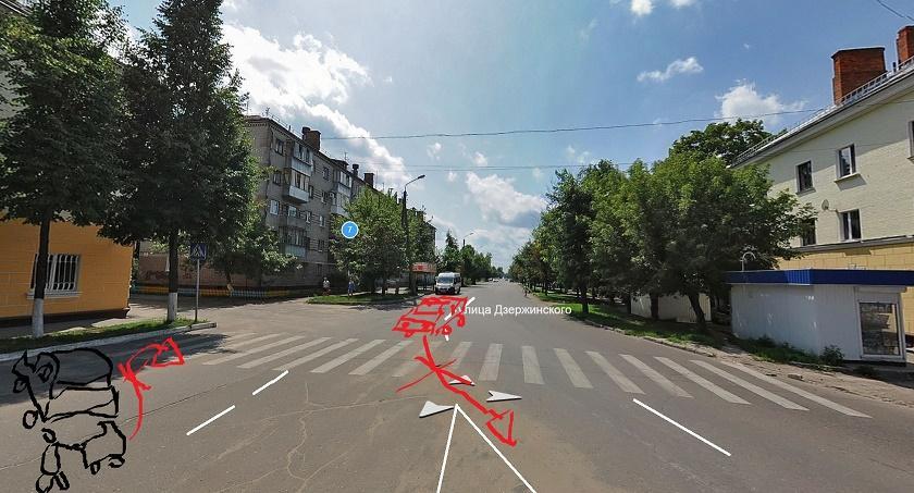 Схема пересечения_Нерег.пеш.переход_ул.Дзержинского, д.5 уменьшенная.jpg